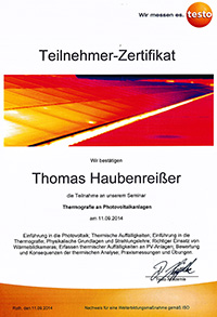 Thermografie an Photovoltaikanlagen